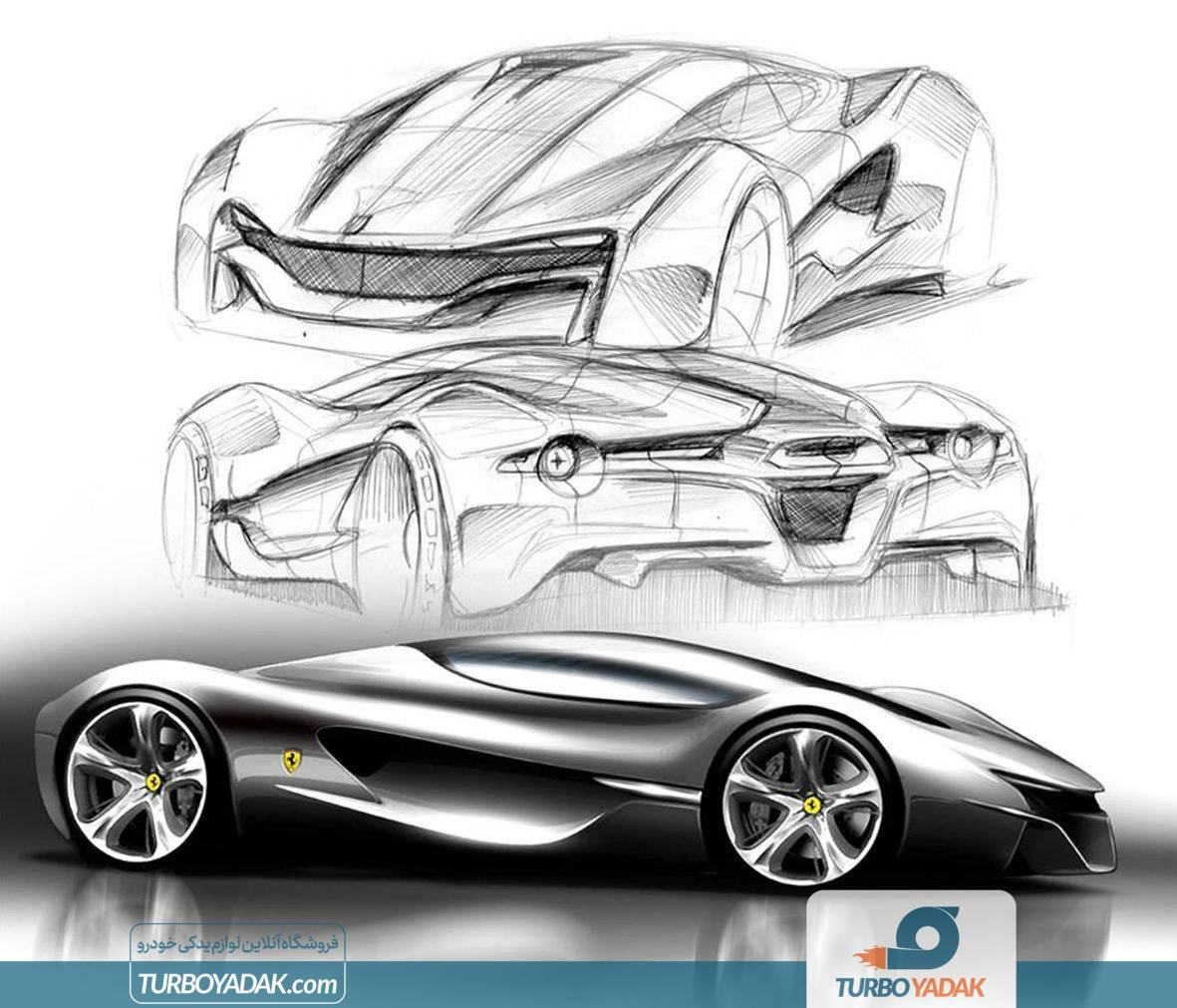 اسکچ طراحی خودرو