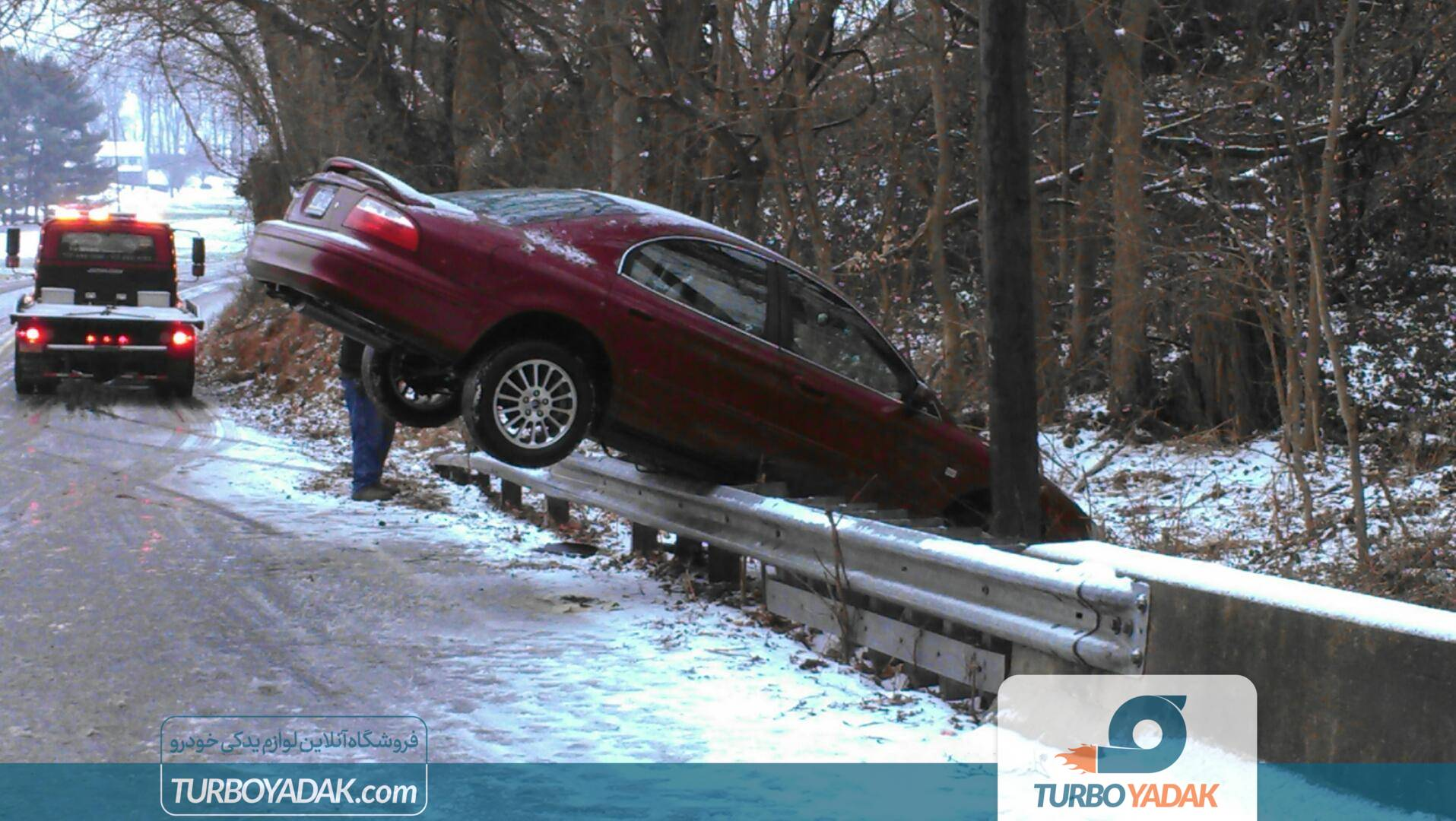 منحرف شدن خودرو از جاده