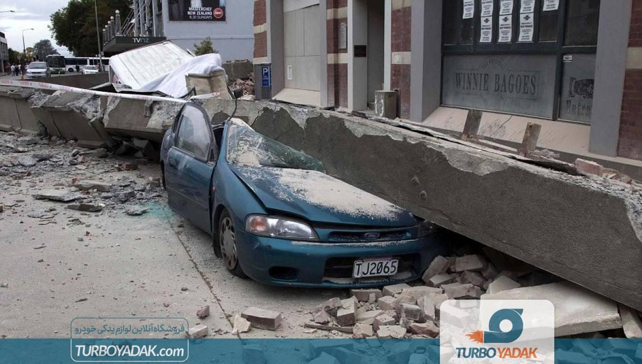 رانندگی هنگام وقوع زلزله