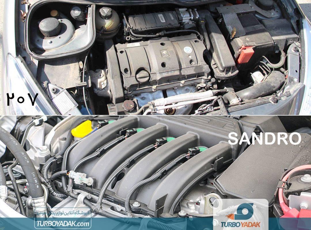 مقایسه مشخصات فنی رنو ساندرو اتوماتیک و پژو 207 اتوماتیک